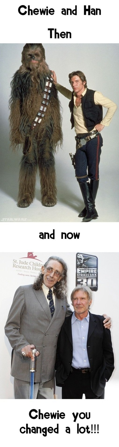 Chewie and Han Now and Then