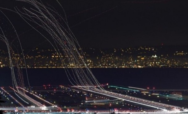 Long Exposure Photo of Airport