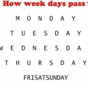 How Week Days Pass