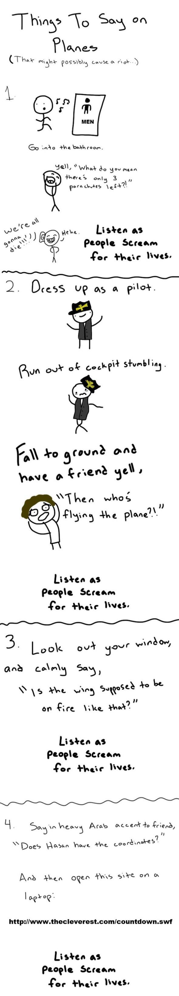 Airplane Pranks