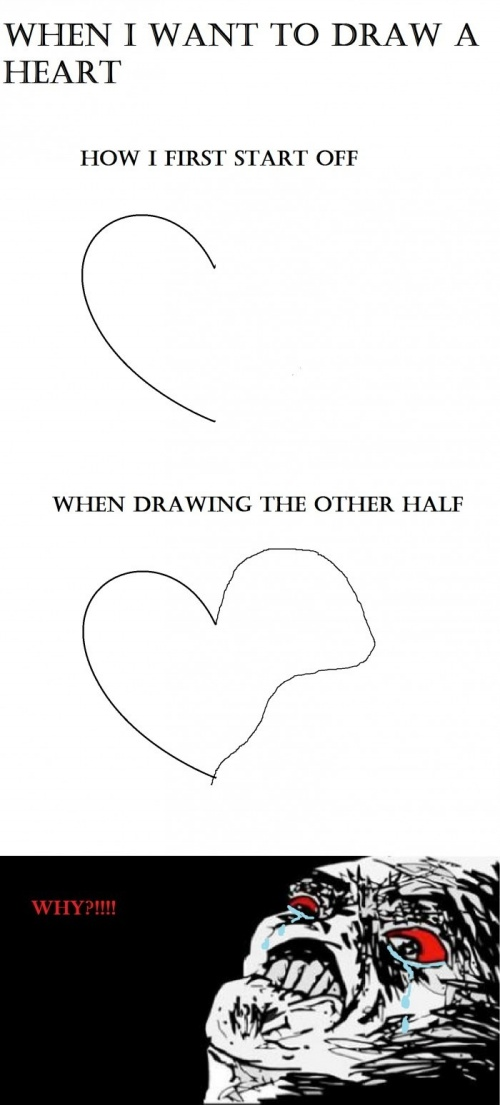 When I Want To Draw a Heart