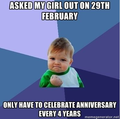 Asked Girl Out On 29th February