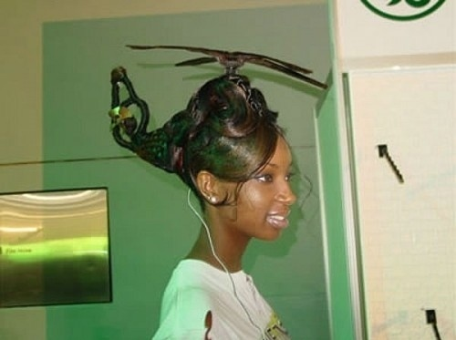 Helicopter Hairstyle