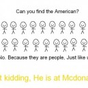 Can You Find The American?