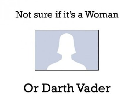 Woman or Darth Vader