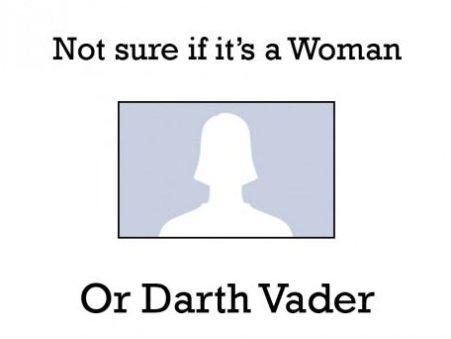 Woman or Darth Vader