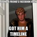 Found Friend's Facebook Open