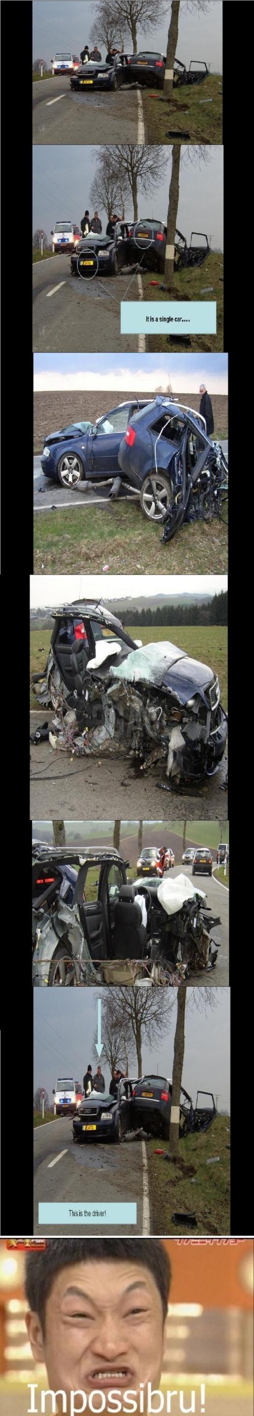 Impossibru Car Crash!