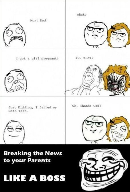Breakign the News To Your Parents