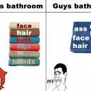 Ladies vs. Guys in the Bathroom