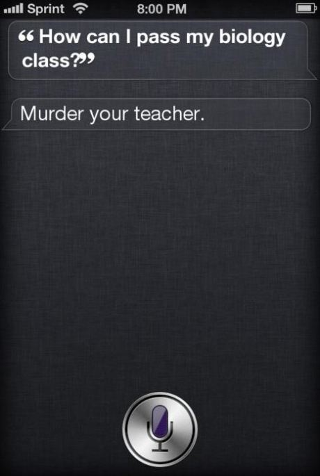 That Wouldn't Be Such a Great Idea Siri.