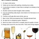 Top 10 Rules of Boozing