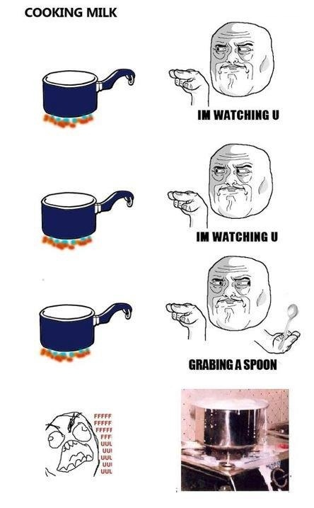 When Boiling Milk