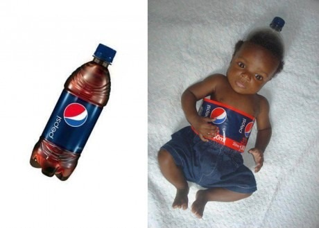 Cute Kid Dressed As a Bottle
