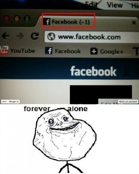Forever Alone – Facebook
