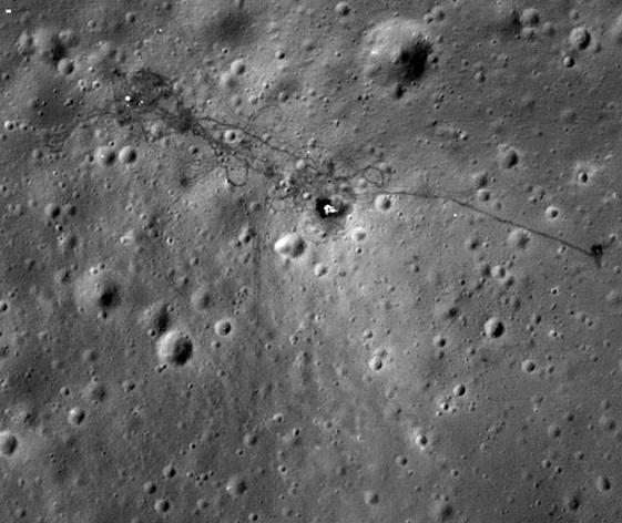 You Can See The Moon Landing Site!