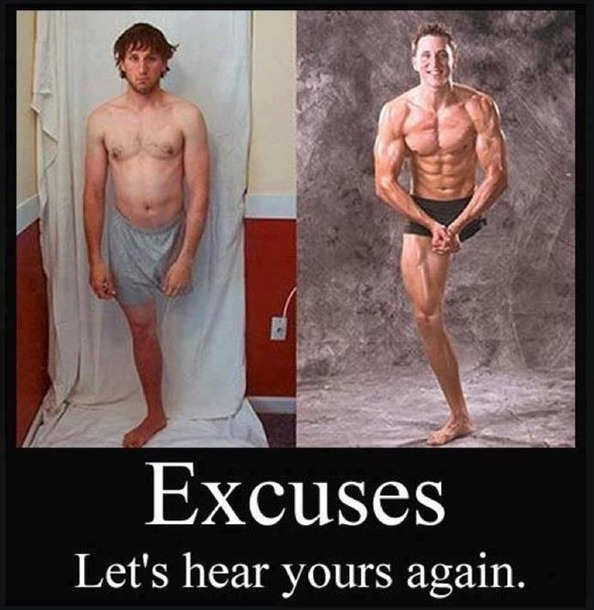 Excuses, Let's Hear Yours Again.