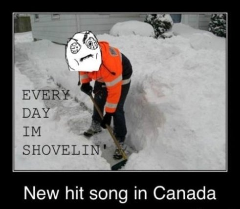Every Day I'm Shovelin'