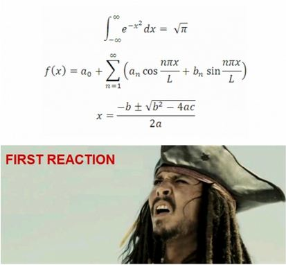 First Reaction to Math