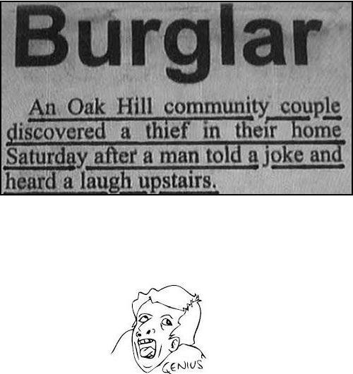 Smart Burglar…