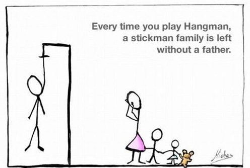 Every TIme You Play Hangman…