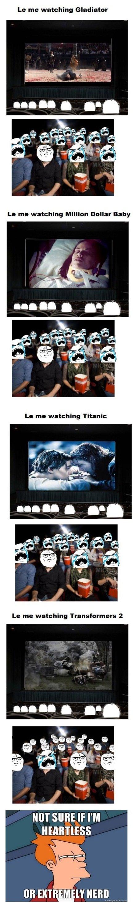 Me Watching Movies