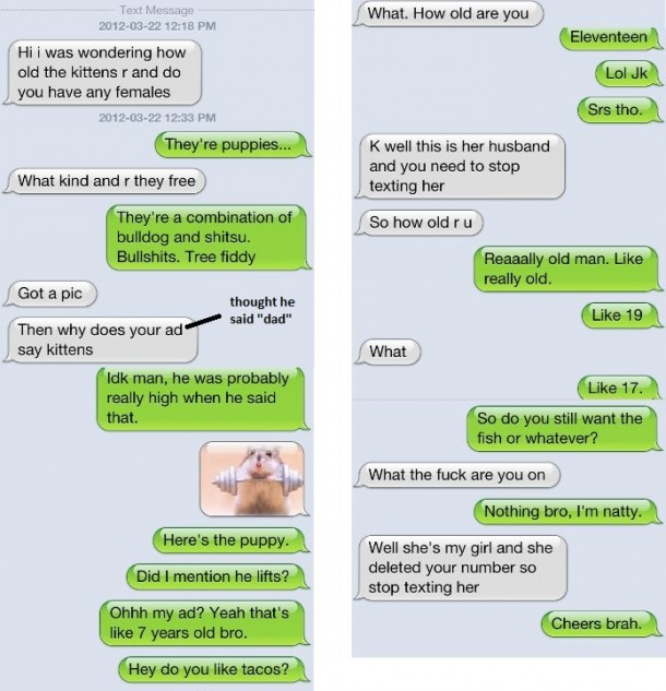 Gets a Random Text, Trolling Like a Boss!