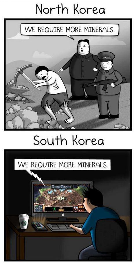 North vs. South Korea