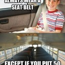 Children Must Wear a Seat Belt
