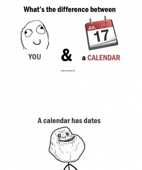 Difference Between You And a Calendar