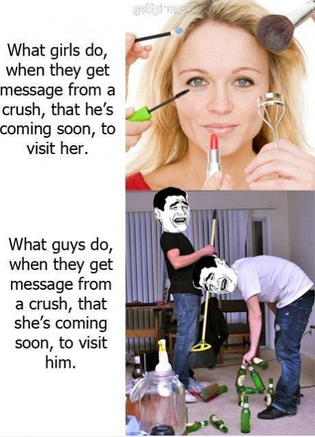 What Girls and Guys Do When Thier Crush Comes Over