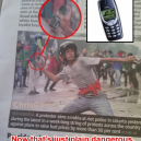 Throwing a Nokia 3310