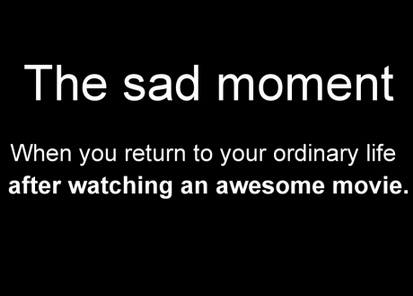 The Sad Moment…