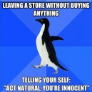When Leaving a Store Without Buying Anything