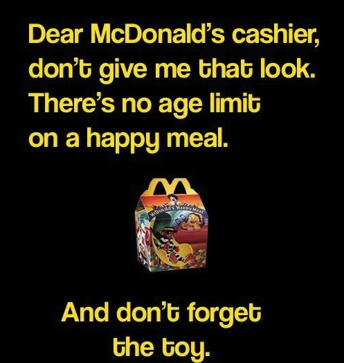 Dear McDonald's Cashier