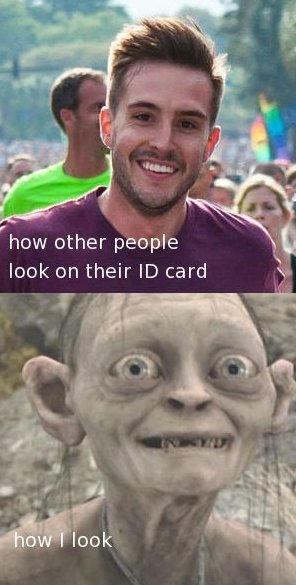 How I Look On My ID-card