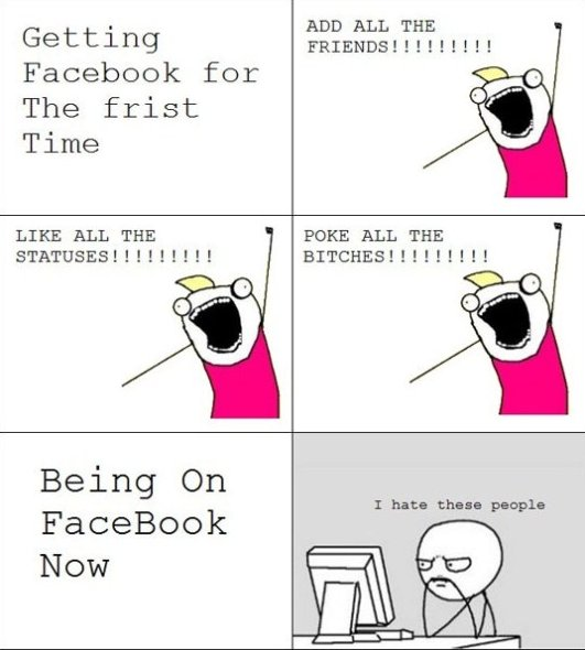 First Time on Facebook