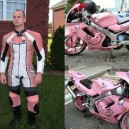 Very Manly Hello Kitty Biker