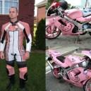 Very Manly Hello Kitty Biker
