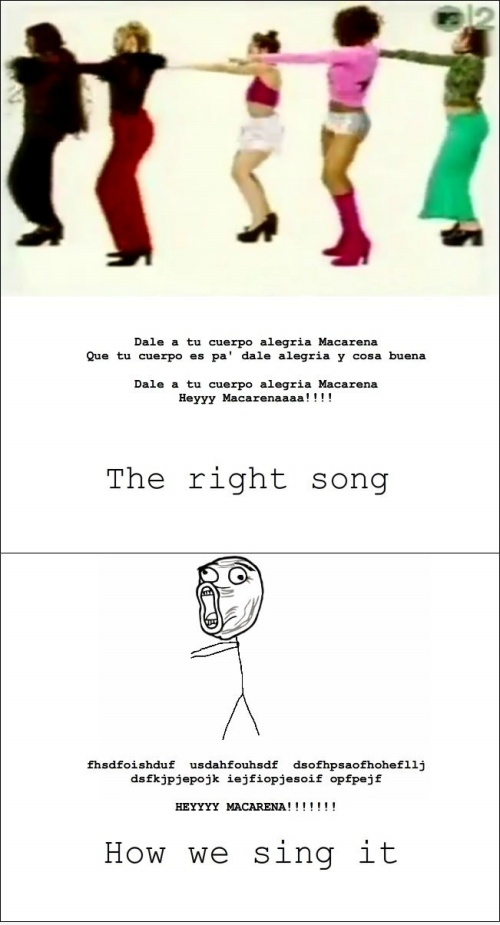 How We Sing Hey Macarena