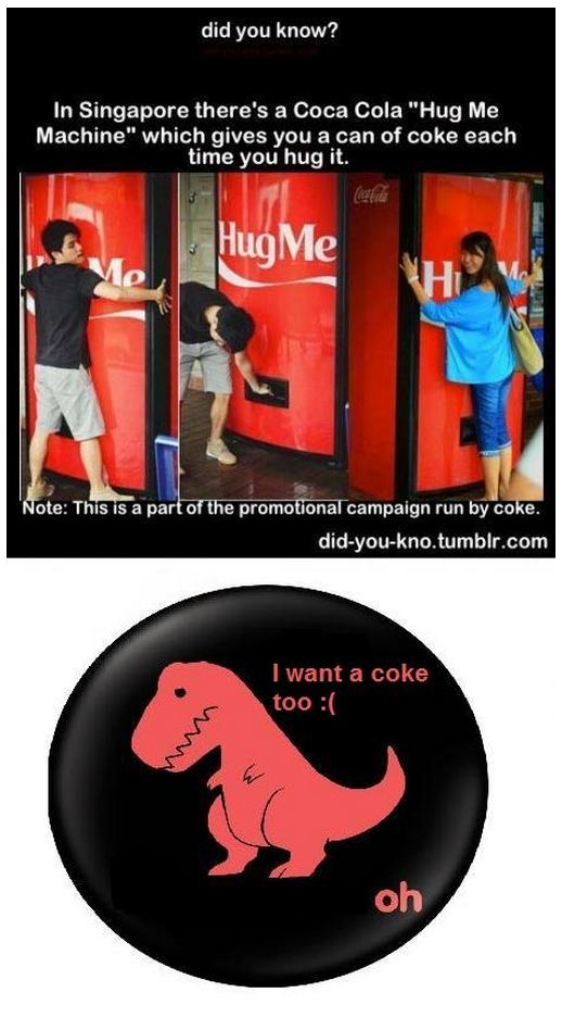 Coca Cola Hug Me Machine