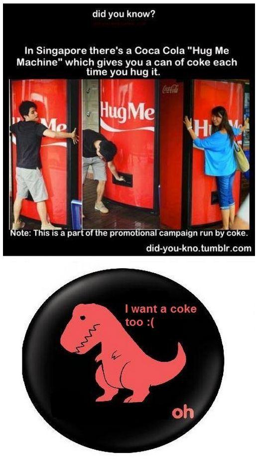 Coca Cola Hug Me Machine