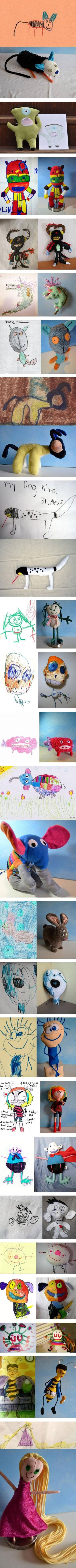 Children Drawings Made Into Toys