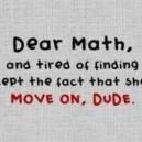 Dear Math…