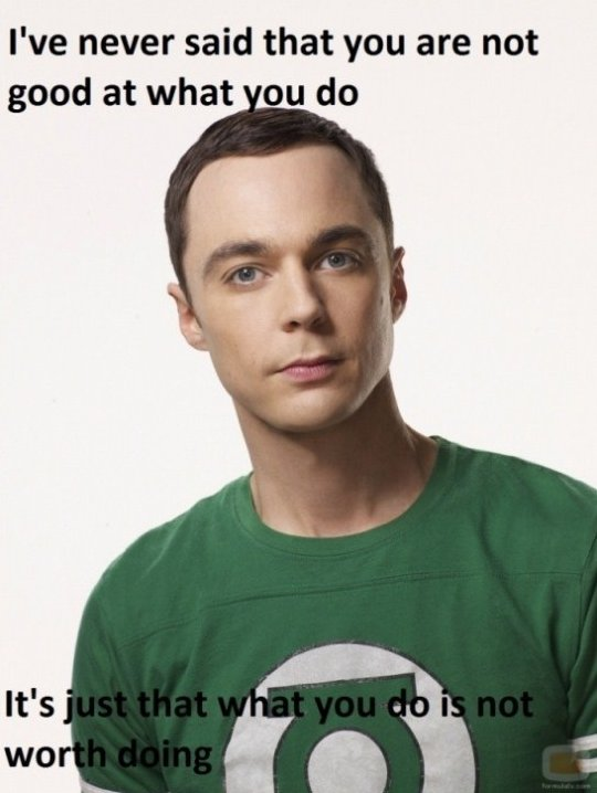 Motivational Speech lvl. Sheldon