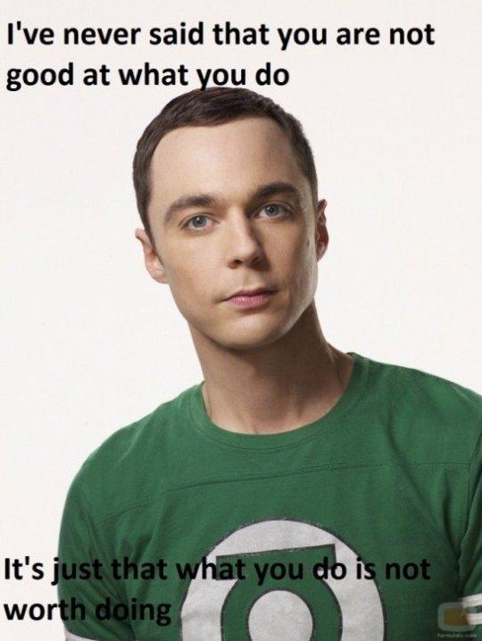 Motivational Speech lvl. Sheldon