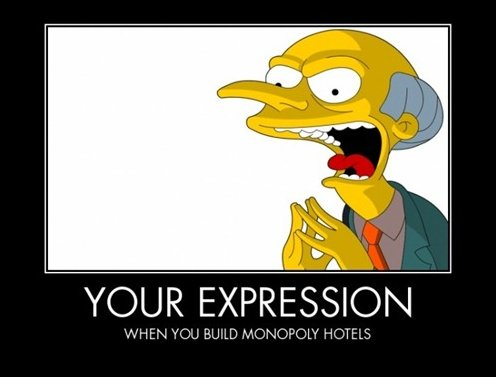 When Building Monopoly Hotels
