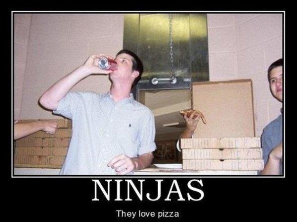 Ninjas Love Pizza!