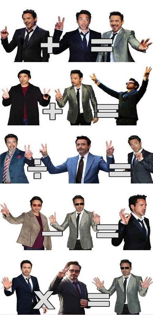 Robert Downey Jr Teaching Us Math