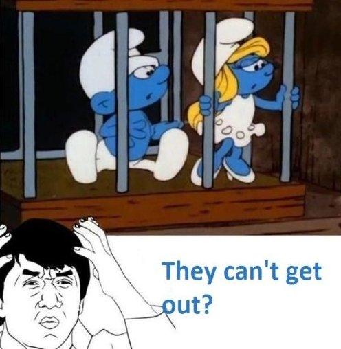 Silly Smurfs…